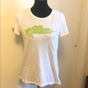 J.Crew print/embroidered t-shirt Size L